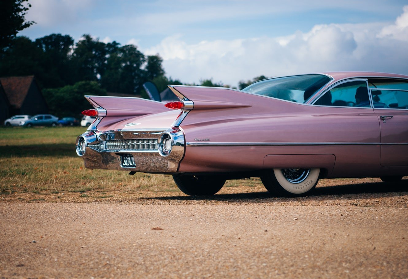 picture of a 50's rust free cadillac
